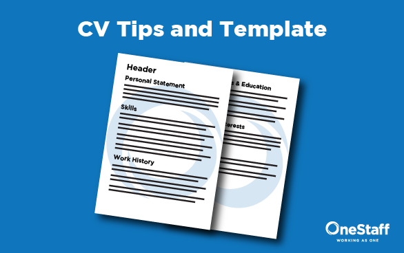 cv writing tips and template onestaff